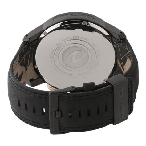 Ripcurl Detroit Black Brown Leather cheap rip curl watches on sales rip curl s a2297 mid detroit leather midnight black