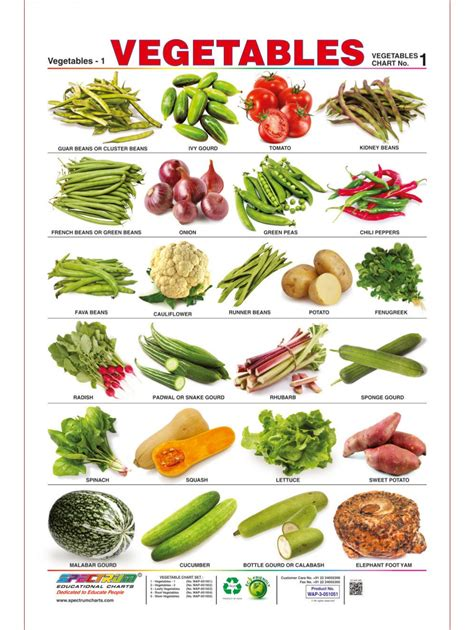 l like vegetables vegetables chart for www pixshark images