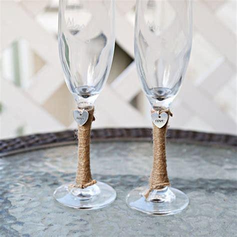 Mug Gelas Custom Shabbychic buy 2 personalized wedding glass toasting flutes glasses charm custom shabby chic rustic