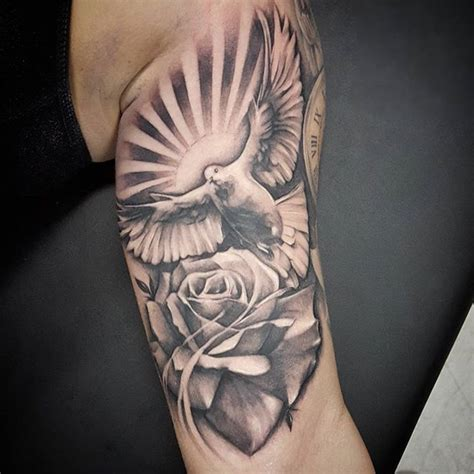 rose and dove tattoo designs dove and meaning