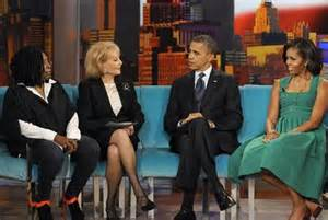 michelle obama on the view barack and michelle obama interview on the view delivers