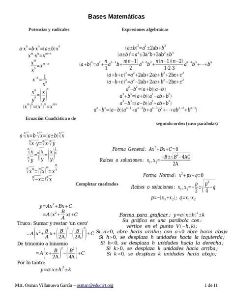 mt 1 matematicas bachillerato formulario de matem 225 ticas para bachillerato