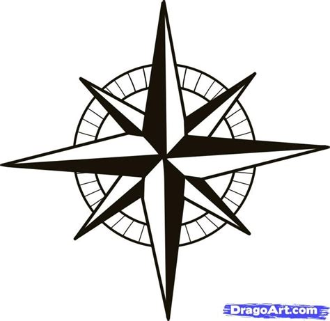 nautical compass rose tattoo nautical compass pattern how to draw a compass compass