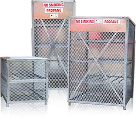 Propane Cylinder Storage Rack by Propane Storage Cages Forklift Propane Exchange