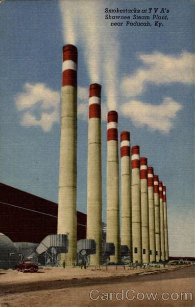Steam E Gift Card - smokestacks at tva s shawnee steam plant paducah ky