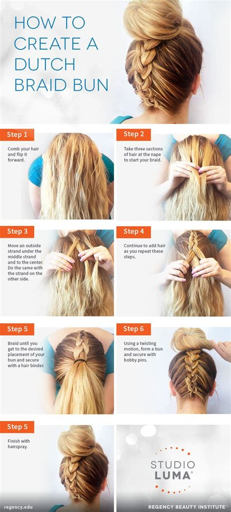 handouts on how to braid hair hairstyle printable instructions 15 top bun tutorials to