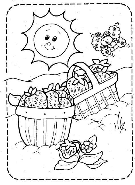 coloring page strawberry shortcake picnic basket