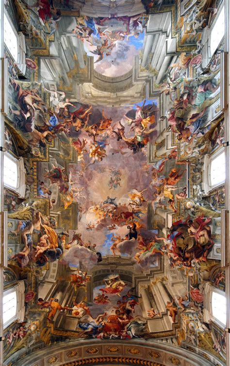 Who Began The Tradition Of Illusionistic Ceiling Painting by Picture Of The Day Jaw Dropping 3d Fresco By Andrea Pozzo