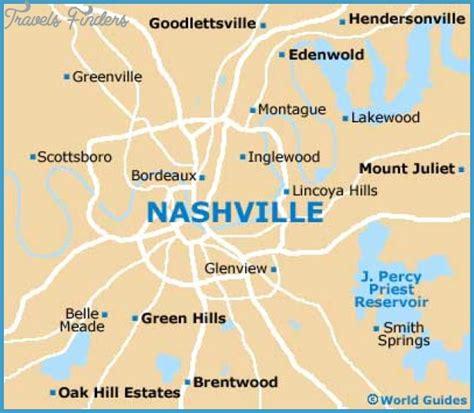map of nashville area nashville davidson map tourist attractions