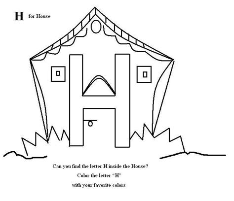 letter h coloring pages preschool 8 best images of preschool letter h printable pages