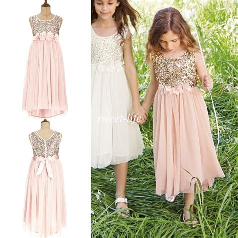 light and life church long beach 2015 blush flower girls dresses gold sequins hand made