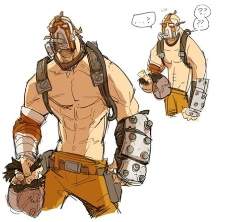The Psycho From Heroes by Krieg The Psycho Concept Borderlands 2 Fanart