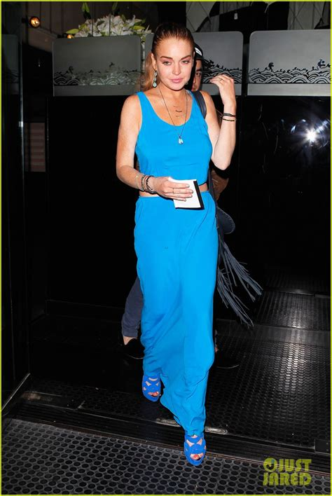 Style Stealer Lindsay Lohans Blue Dress 2 by Lindsay Lohan S Blue Maxi Dress