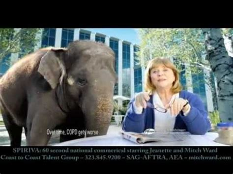 spiriva commercial elephant actress spiriva 60 second national tv cable spot starring