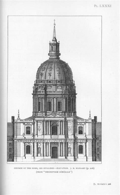 Domed Section Of A Church by Les Invalides Church Of The Dome Arquiclick Sketches