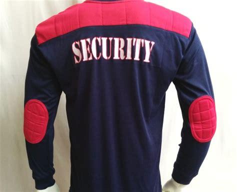 Kaos Security Panjang Biru Dongker jual kaos security tangan panjang logo biru dongker