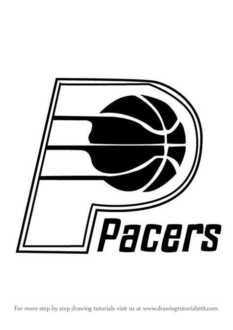 indiana pacers coloring page learn how to draw indiana pacers logo nba step by step