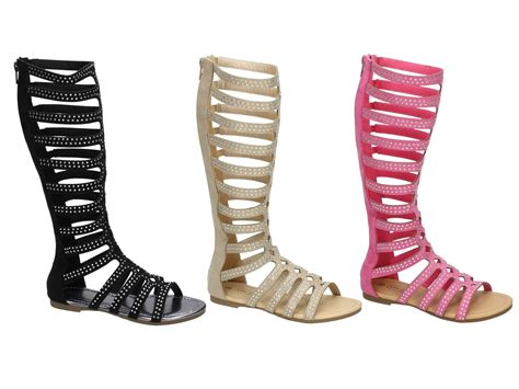 knee high strappy sandals knee high strappy gladiator sandals flat