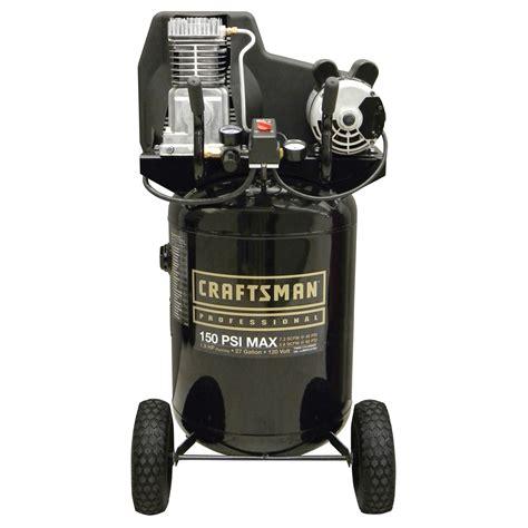 craftsman  gal oil lubricated vertical air compressor