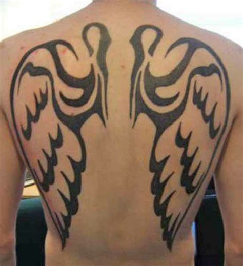 tribal angel wings tattoos 18 stunning tribal tattoos only tribal