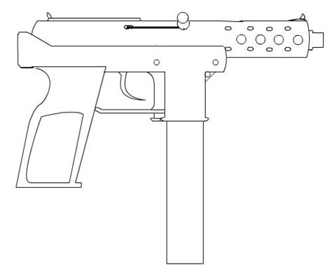 tec 9 outline by netvideotube on deviantart