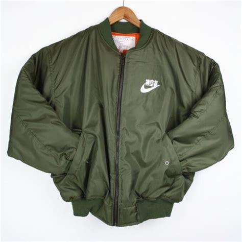 Jaket Sweater Supreme Navy 1 jacket flight jacket ma 1 flight jacket bomber jacket vintage bomber jacket green bomber