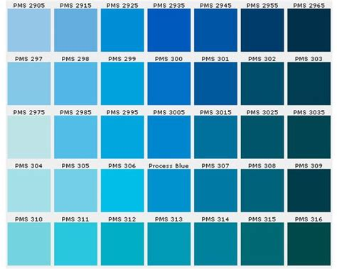 shades of blue chart pantone blues prints color fashion pinterest