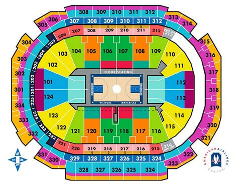 american airlines center seat map dallas mavericks seating chart american airlines center