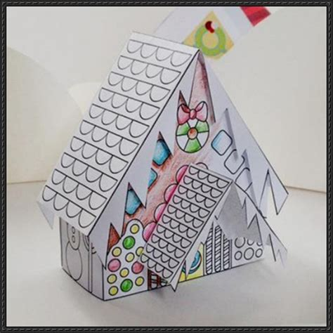 Paper Gingerbread House Craft - papercraftsquare new paper craft