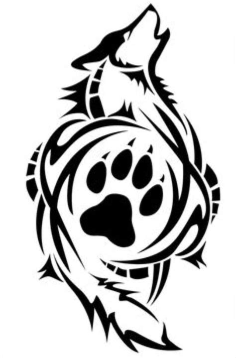 tribal paw print tattoo 25 best ideas about wolf paw tattoos on wolf