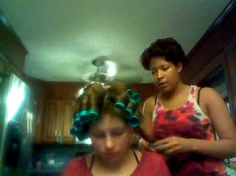 grown man in curlers man in a short robe and hair curlers funnydog tv