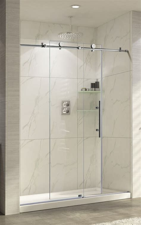 bathroom door ideas best 25 frameless sliding shower doors ideas on