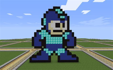 house ideas minecraft creative pixel art megaman building ideas minecraft