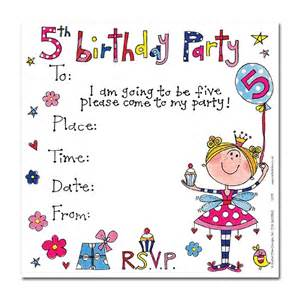 s 5th birthday party invitation cards party invites