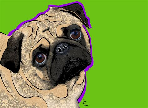 pug pop pug 11x14 pop print by popdogdesigns on etsy