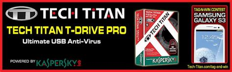 Kaspersky Tech Titan T Drive Pro 5 In 1 Tt Tdp8331 Id 3 User t drive pro is world s portable usb antivirus powered by kaspersky lab