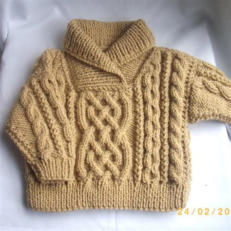 knitting pattern baby jersey liam cross neck cable sweater for baby or toddler pdf
