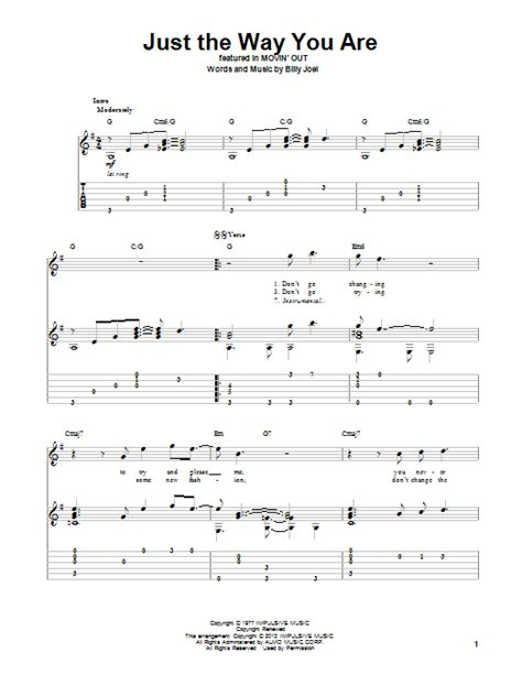 Just The Way You Are Billy Joel Guitar Chords