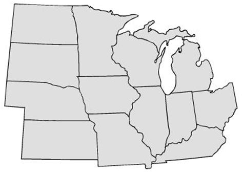 blank midwest map blank map us midwest region