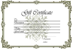 gift certificate templates free printable gift