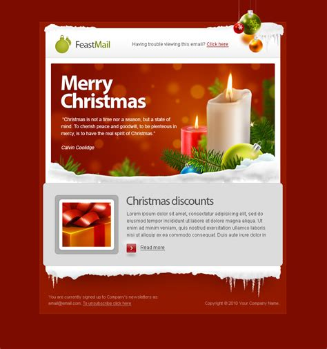 christmas themes for emails feastmail christmas and corporate email template by