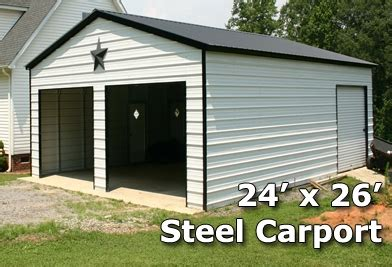 Enclosed Carports Garages by 24x26 Fully Enclosed Steel Garage Carport Installation