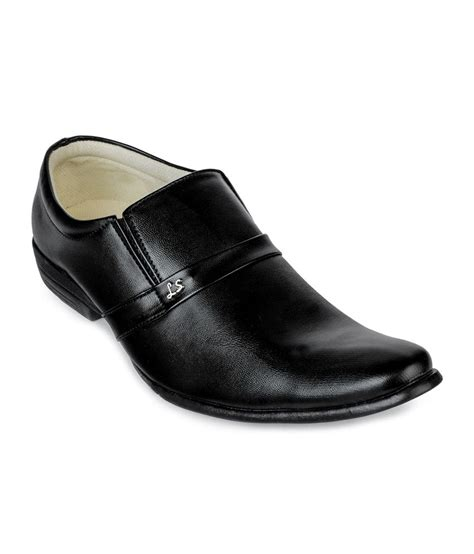 windus black slip on formal shoes price in india buy