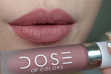 Dose Lipstick Sephora dose of colors liquid matte lipstick review and swatches xueqi