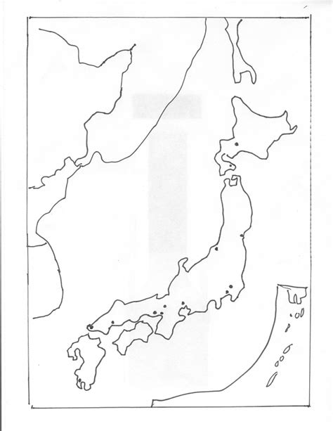 Japan Map Cities Outline by His 217