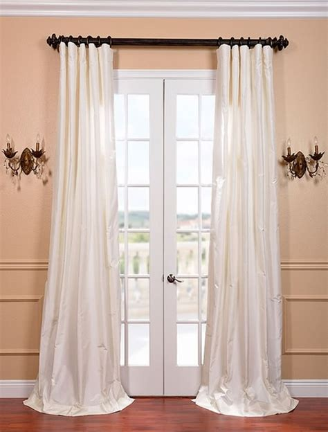 White Silk Curtains White Satin Silk Taffeta Curtain Curtains San Francisco By Half Price Drapes