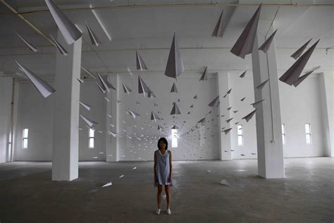 What Makes Paper Airplanes Fly - installation white cabana