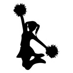 Pom Pom Bedding Jumping Cheerleader With Pom Poms Die Cut Decal Car Window