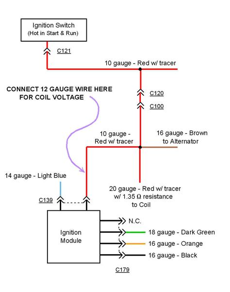 chevy hei distributor wiring diagram i used 12 stranded wire it is best to solder and seal