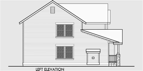 Side View House Plans by Two Story Craftsman Plan With 4 Bedrooms 40 Ft Wide X 40